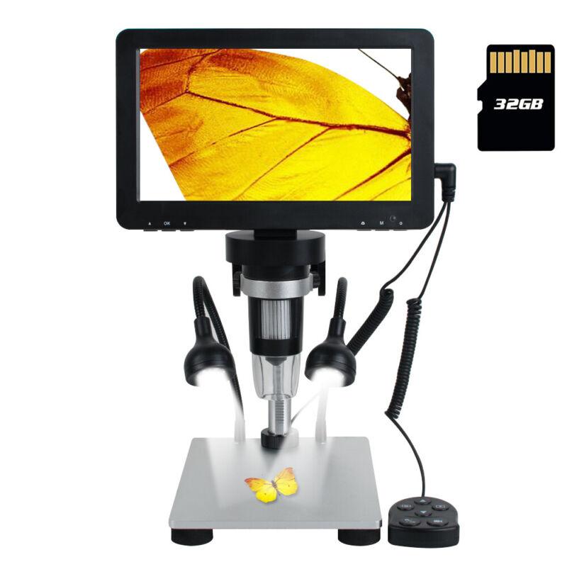 "US 7""LCD 1080P Digital Microscope HD USB Microscope 1200X Magnification Recorder"