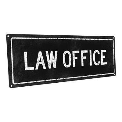Decorate An Office ( Black Law Office Metal Sign; Wall Decor for  Metal Sign; Wall Decor for Home)