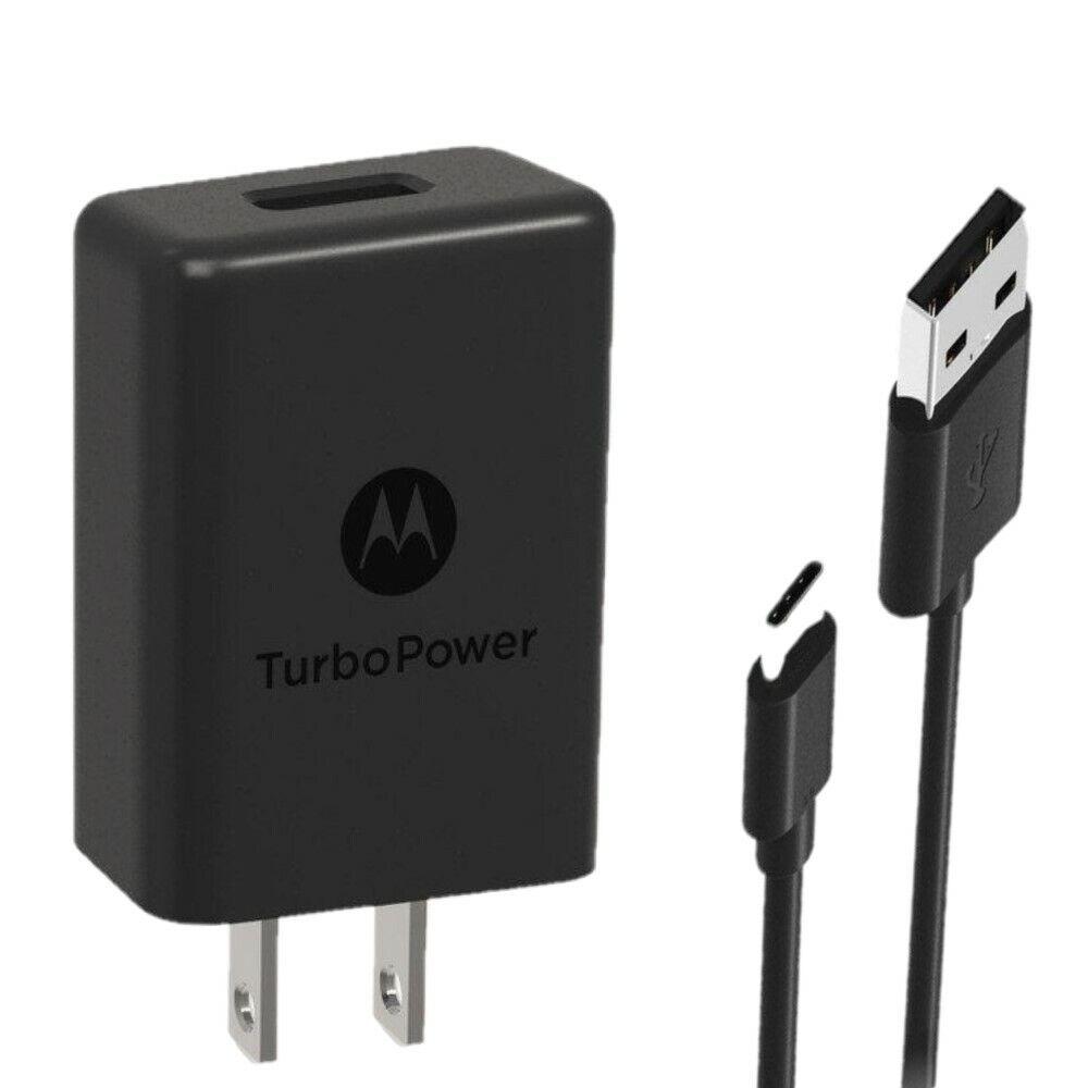 OEM Motorola TurboPower 15 Type C 3A Home Travel Wall USB