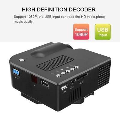1080P Full HD LED Mini Portable Projector Home Theater Cinema AV USB Lot - *