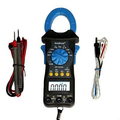 AC DC Stromzange Zangenamperemeter Zangen Multimeter Gleichstromzange HP-6203 (Ampere-meter)