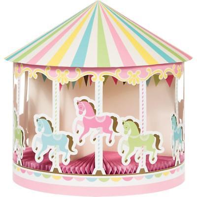 Karussell Pferd Pony Party Tisch Tafelausatz Dekoration Geburtstag Baby Dusche ()