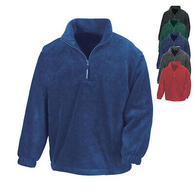 Herren Half Zip Top (Result Herren Fleecepullover Half-Zip Pullover POLARTHERM TOP Neu R033X)