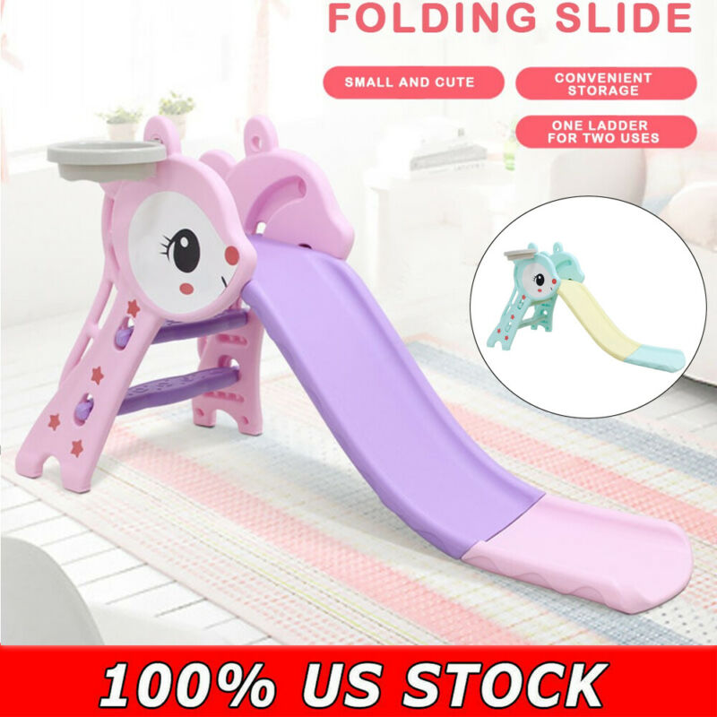 Slide For Kids Outdoor Indoor Backyard Patio Play Set Foldin