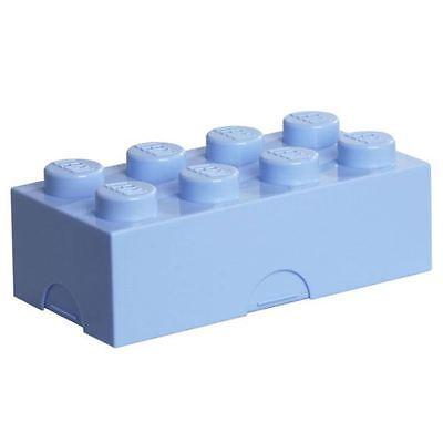 Lego Almuerzo/Caja Almacenaje Azul Claro Infantil Escolar/Playroom Juguete