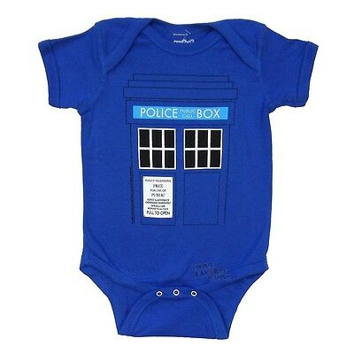 Doctor Who Tardis Costume Police Box Dr. Who Bbc Baby Infant Snapsuit - Infant Police Costume