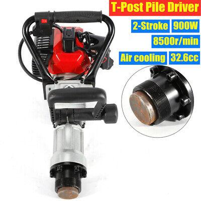 2-Stroke T Post Driver Petrol Powered Pile Driver Garden Farm Fence Hammer 900W