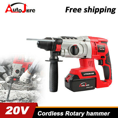20v18v Sds Cordless Rotary Jackhammer Drill Brushless Demolition Battery Charger