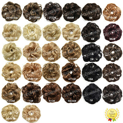 Synthetic Curly Messy Rose Bun Hair Piece Women Updo Scrunchie Hair Extensions