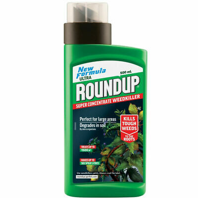 Roundup Super Concentrate WeedKiller 500ml, Degrades in Soil,New Formula
