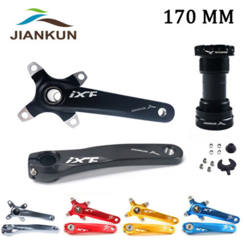 IXF 170MM MTB Bike Crank 104BCD Narrow Wide Round Oval Chainring Arms With BB