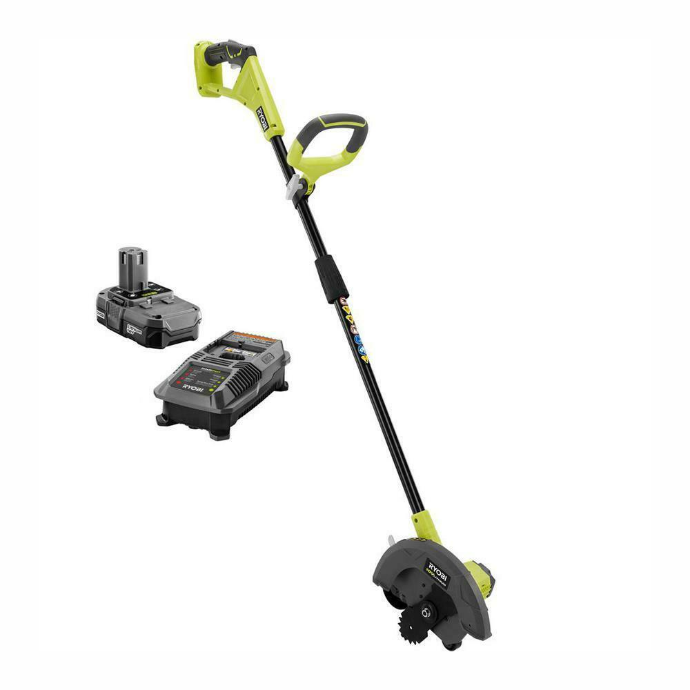 Cordless Edger 9 in 18-Volt Lithium-Ion Yard Lawn With Batte