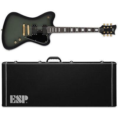 ESP LTD Sparrowhawk Bill Kelliher Military Green Sunburst Satin NEW Guitar +Case