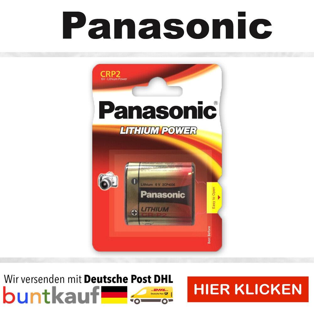 Panasonic CR-P2 DL223A CRP2 Lithium Power Photo Batterie 6V im Blister Auswahl