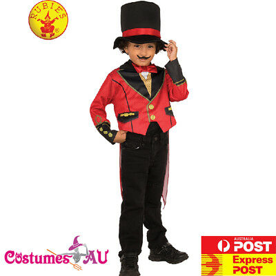 Kids Ringmaster Costume Magician Circus Showman Lion Tamer Boys Child Book - Lion Tamer Costume Child