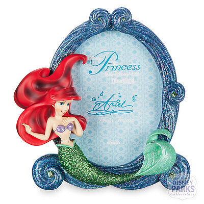 Authentic Disney Parks Ariel Picture Frame Little Mermaid Glitter Photo