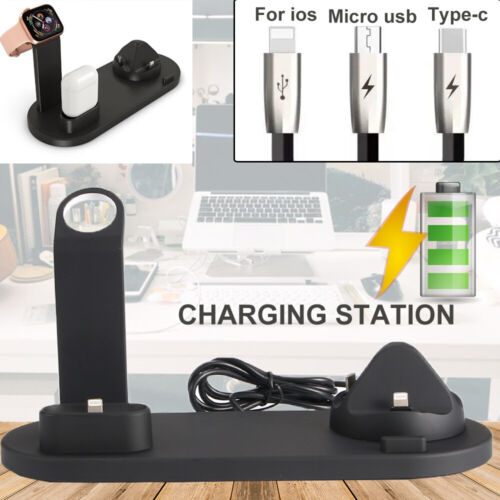HOT 3 In 1 Wireless Charger Charging Station Dock Stand For