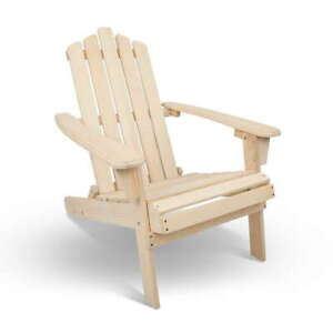 Manly Outdoor Garden Foldable Beach Chair Natural