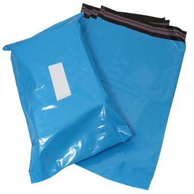 10 Blue Plastic Mailing Bags Size 17x21