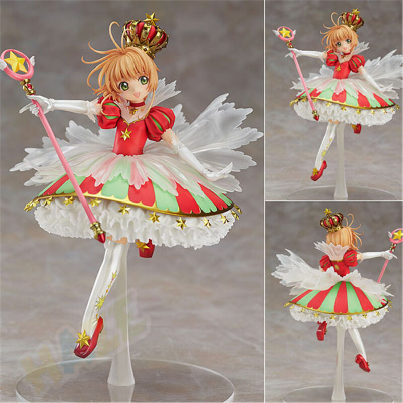 Card Captor Sakura Kinomoto Sakura Crown 15th Anniversary 1/7 PVC Figure Toy
