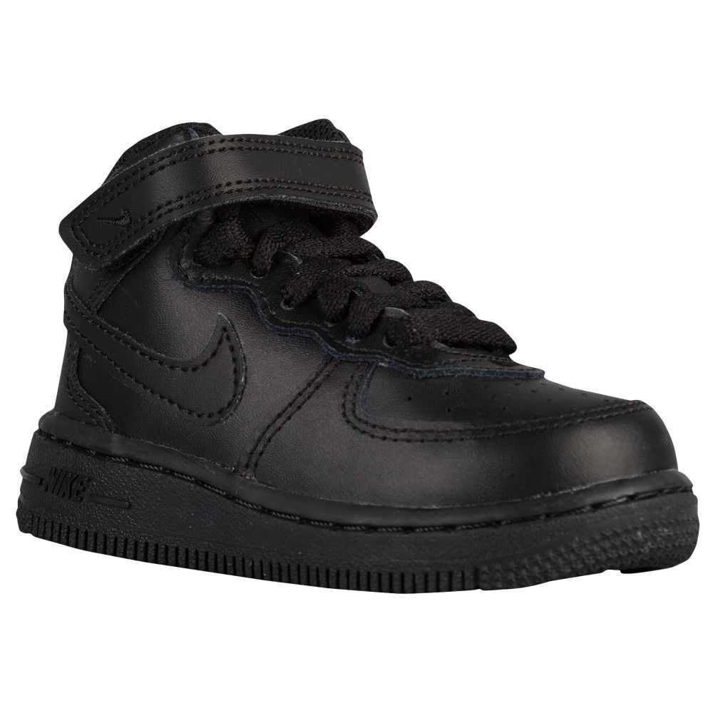 Nike Infant&Toddler's AIR FORCE 1 MID TD Shoes Black  314197-004 b