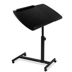 Rotating Mobile Laptop Adjustable Desk Black Silverwater Auburn Area Preview
