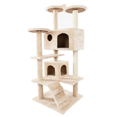 """52"""" Best Pet Cat Tree Tower Condo Furniture Scratch Post Kitty Pet House 2 Color"""