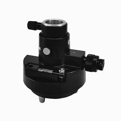 New Black Tribrach Adapter Carrier With Optical Plummet For Prism Set