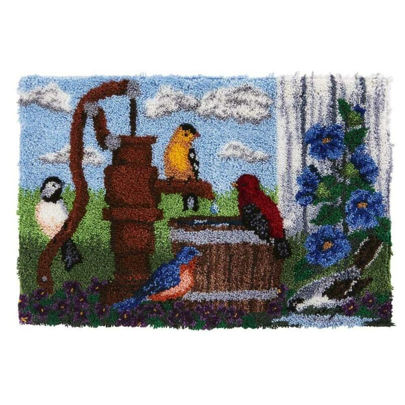 Herrschners® Water Barrel Birds Latch Hook Kit