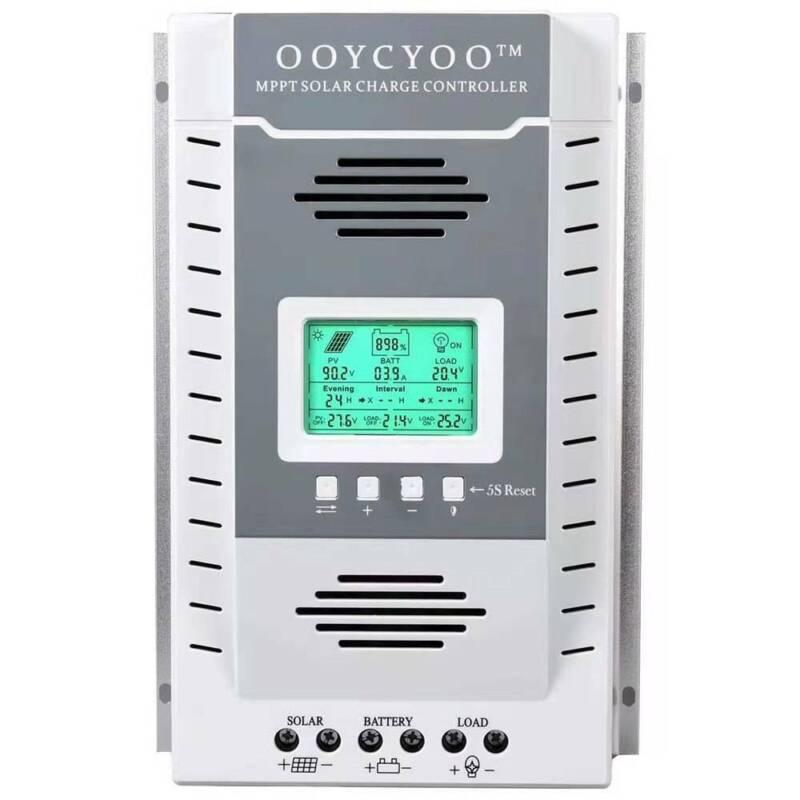 100A 60A-20A MPPT Solar Charger Controller 12V/24V PV 100V DC Battery Regulator