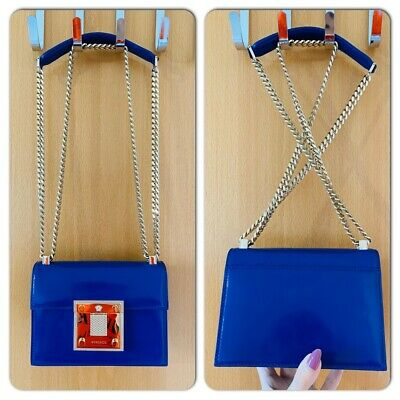 VERSACE 100% AUTHENTIC BLUE CROSSBODY CHAIN BAG PERFECT CONDITION USED ONLY ONCE