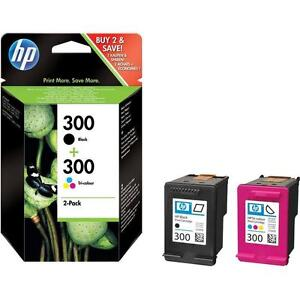 Original Genuine HP 300 Black & Colour Ink Cartridge for Deskjet F2480 Printer