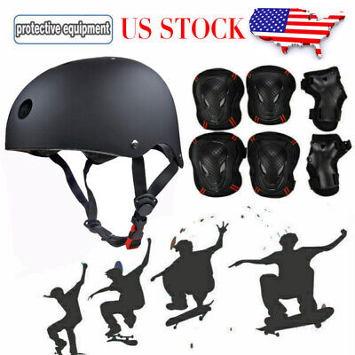 Adult Protective Gears Set Safety Helmet Knee Elbow Pads Wrist Guards Skateboard