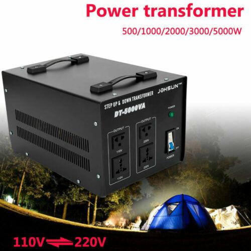 220 To 110V 5000W Step Up/Down Power Voltage Converter Transformer Stabilizer US
