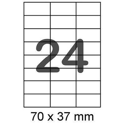 10 A4 Bogen Etiketten 70x37 Mm Format Wie Avery Emden