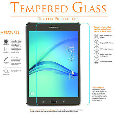 9H Tempered GLASS Screen Cover Protector for Samsung galaxy tab a 8.0 T350 8""