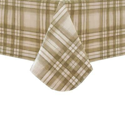 Reeve Plaid Vinyl Tablecloth 60 x 102 Flannel Backing NEW