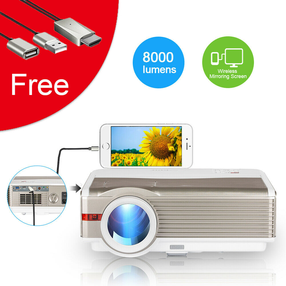 8000lm hd led lcd projector home theater