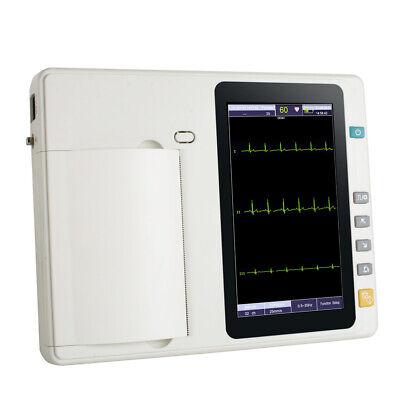 3-channel 12 Lead Digital Electrocardiograph Ecg Ekg Machine Printer Fast Ship