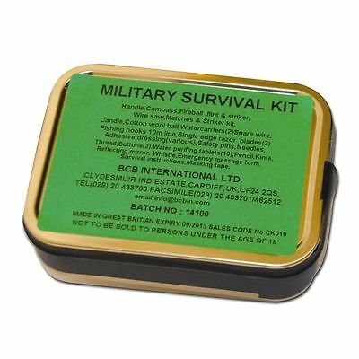 Survivalkit BCB Military Überlebensset Outdoor Dose Notfallausrüstung