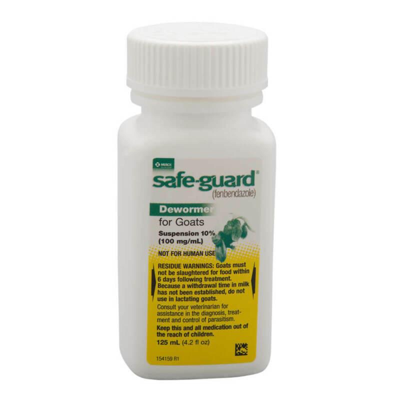 Safe-Guard Dewormer Suspension 10%, for Goats, 125 ml