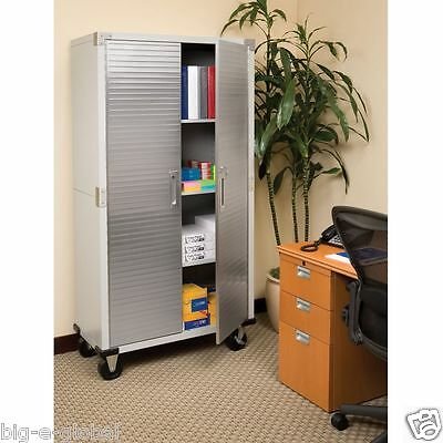 Garage Unbelievable Stiffen Rolling Machine Storage Commode Shelving Stainless Grit one's teeth Doors