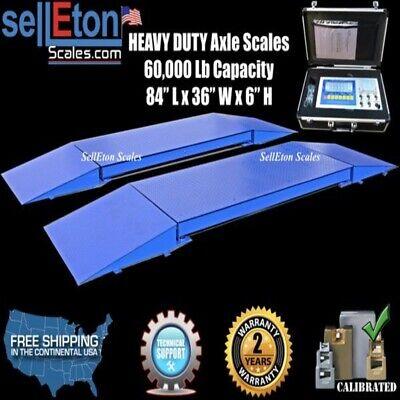 Truck Axle Scales 7 X 3 Heavy Duty Sl-60kx 2 Years Warranty 60000 Lbs X 10 Lb