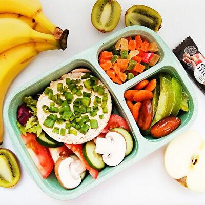 Food Storage Organizer (Wheat Straw Meal Storage Food Prep Bento Box Lunch Container Organizer Portable)