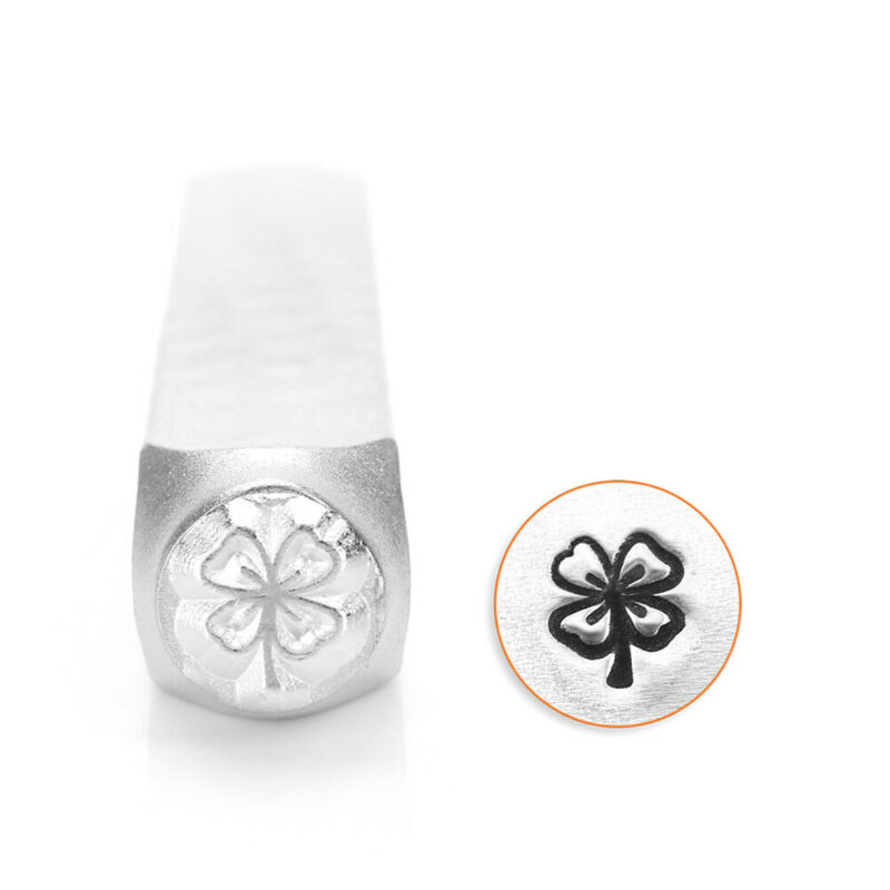 Four 4 Leaf Clover Metal Stamp, Shamrock Irish Luck DIY Jewelry Stamping Punch