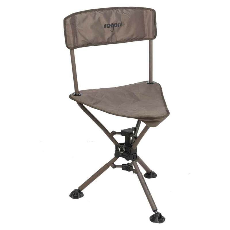 Rogers Sporting Goods Tough Hunter 360° Compact Swivel Tripod Chair   Polyester