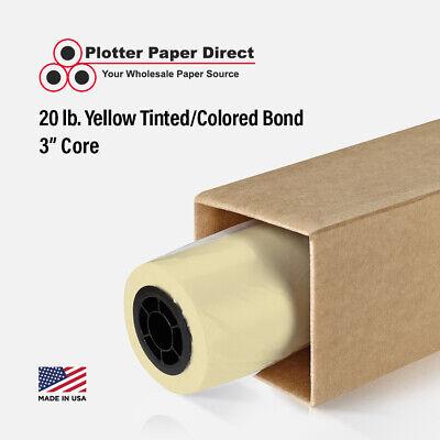36 X 150 20lb Yellow Colored Bond Plotter Paper For Wide Format Inkjet Printer