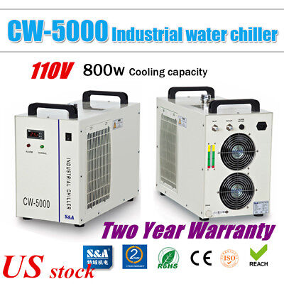 Us Sa Cw-5000dg Industrial Water Chiller For Co2 Laser Tube 80w 100w 120w