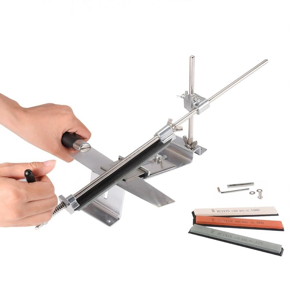 Kitchen Knife Sharpener System Set Update Professional Fix-angle With Stones Home & Garden