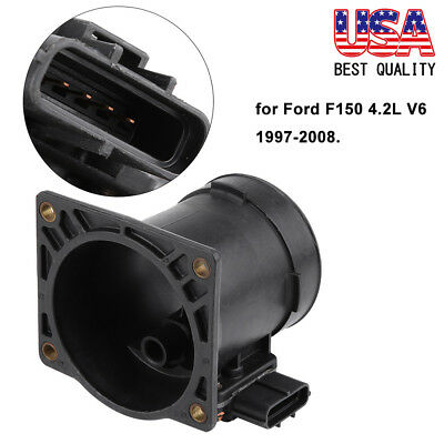 Mass Air Intake Sensor - New Mass Air Flow Sensor Air Intake MAF For 1997-2008 Ford F150 4.2L